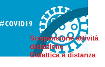Coronavirus: sospensione attività didattiche e attivazione didattica a distanza